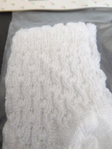 Quality Doll Socks Cable Knit White for (M) Medium Doll - $8.99