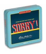 Sorry! Nostalgia Edition Board Game tin. Parkers brothers Slide Pursuit ... - $31.42
