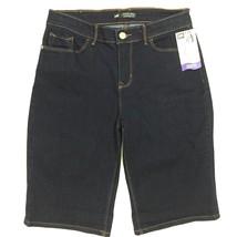 Lee Bermuda Denim Shorts Blue Size 4 Medium Modern Series Mid Rise 5 Poc... - $17.41
