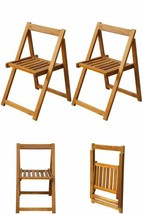 Patio Dining Chairs Pair of 2 Seats Kitchen Garden Folding Balcony Cafe ... - $102.77