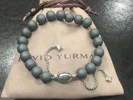 David Yurman Bracelet Sterling Silver 8mm MATT HEMATITE Spiritual Beads - $199.99