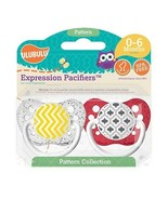 Ulubulu Pacifier Set - Ulubulu - Yellow Chevron & Red Moroccan - 0-18 mo... - $12.99