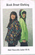 Birch Street Clothing Adult Reversible Jacket Sewing Pattern - $9.00