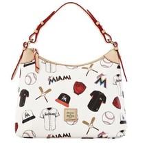 Dooney & Bourke Miami Marlins Hobo Tote Bag Bnwt - $98.99