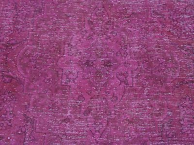 6'x10' Worn Down Pink Overdyed Persian Tabriz Handmade Oriental Rug G24370