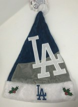 LA Dodgers Team MLB Christmas Santa Plush Hat - $12.19