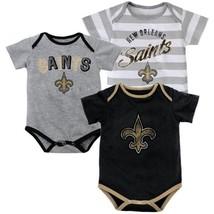 24M New Orleans Saints Bodysuit 3-Piece Set NFL Field Goal Baby Boy