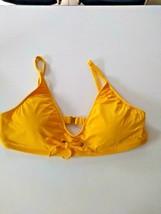 Bleu Rod Beattie Sunset Yellow Bikini Top Size 14 image 1