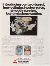Original 1978 Mitsubishi Motors Corp MCA-Jet System Engine Vintage Print Ad - $7.49