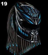 Predator Motorcycle Helmet Blue Fire (Dot / Ece Certified) - $355.00