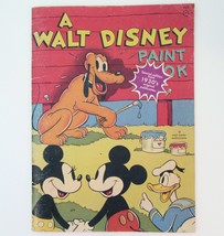 Walt Disney Production Paint Book Vintage Reproduction of 1930s Unmarked - $13.09