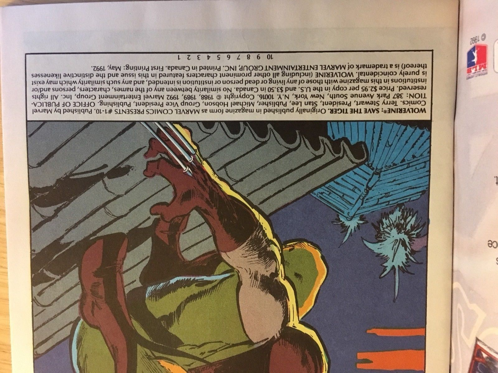 Wolverine #1 Save The Tiger 1992 Marvel Comic Book Lot NM 9.2 Condition LOGAN