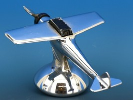 Art Deco Streamline Dollin Diecasters Co. Nickel Plated Airplane Lighter  image 2
