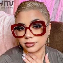 Square Optical Glasses Women Men Anti-blue Vintage Clear Glasses Eyeglasses Fram