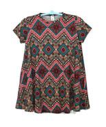 Loving People Womens T-Shirt Dress M Medium Red Teal Black Grey Short Sl... - $19.75
