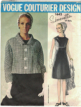 Vogue 1642 Simonetta of Italy 1960s Dress & Jacket Pattern Bust 36 w/Lab... - $93.10
