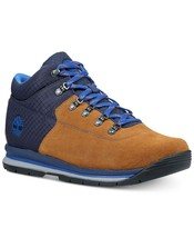 Timberland GT Rally Mixed Media Boots Men Size US 7.5M Brown Blue Leather - $53.28