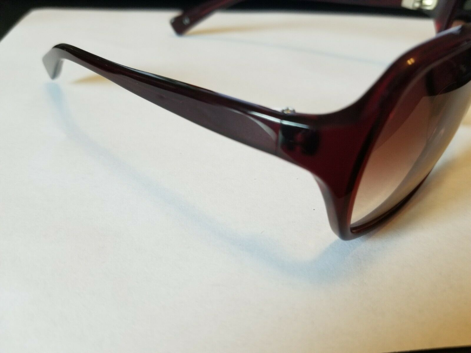 OLIVER PEOPLES Candice SI Sunglasses Glossy Transparent Dark Burgundy Red ..NEW image 2