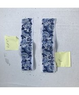 2 pcs Blue on White Rose Trim Edging 2 3/4 in wide - $6.49