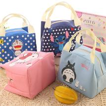 Cartoon Portable Insulated Canvas Lunch Bag Thermal Food Picnic Lunch Ba... - $12.00