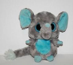 "Aurora Yoohoo & Friends TINEE ELEPHANT 5"" Blue Eye Gray Plush Boing Soft... - $14.40"