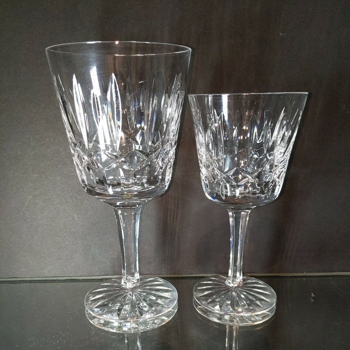 16 pc ATLANTIS Heavy Cut Lead Crystal FATIMA 8 Water & 8 Wine Goblets