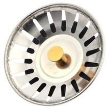 Kitchen Waste Stainless Steel Sink Strainer Plug Drain Filter Stopper Ba... - $0.85