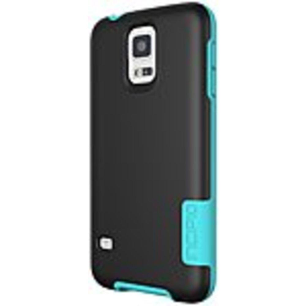 Incipio OVRMLD Case for Samsung Galaxy S5 - Black/Turquoise - SA-531-BLK - Flexi