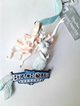 Disney World Beach Club Resort Ariel Sculptured Ornament, NEW - $34.00