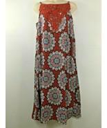 As U Wish Womens Burnt Orange Sleeveless Flowing BoHo Maxi Sundress Plus... - $17.99