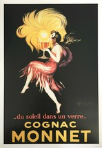 COGNAC MONNET SUNSET IN A GLASS GIRL KISS FRENCH CAPPIELLO VINTAGE POSTER REPRO