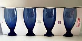 Cristar Water Goblets Cobalt Blue Set of Four Lexington 12 Ounce Glasses - €21,56 EUR