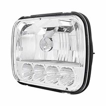 """United Pacific 5 High Power LED 5"""" x 7"""" Crystal Headlight - High & Low Beam - $186.58"""