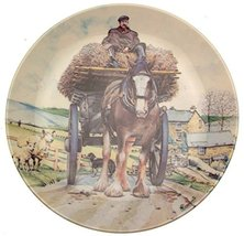 Danbury Mint Wedgwood of Etruria Spring Carting from The Working Horses Collecti - $35.67