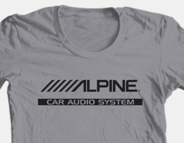Alpine T-shirt Free Shipping car audio stereo auto speakers 100% cotton grey tee image 1