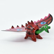 Handmade Alebrijes Oaxacan Wood Carved Folk Art Winged Dragon Bobble Head Figure