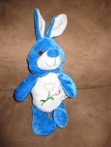 "Blue Bunny W Flowers Mini Brand New Plush Stuffed Animal W Tags 10"" Beanpals - $3.99"