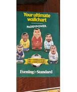 2018 EVENING STANDARD WORLD CUP WALLCHART FROM ENGLAND MESSI RONALDO KAN... - $14.99