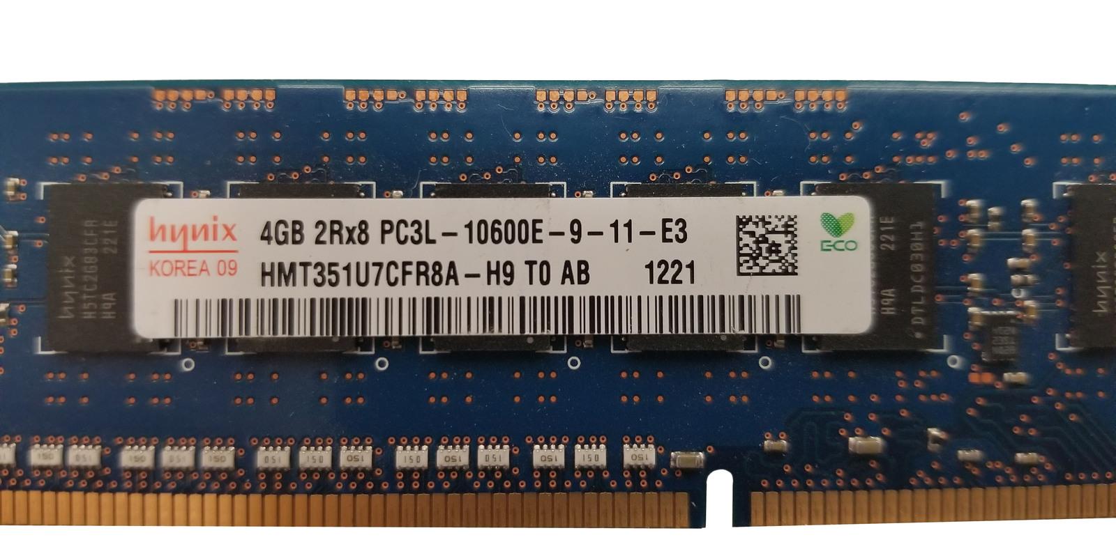 Hynix 4GB 2Rx8 PC3L-10600E-9-11-E3 SERVER RAM (HMT351U7CFR8A-H9) Bin:12