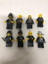 Lot Of 8 LEGO Minifigures Cops Sheriff Police Mini Figs - $21.77