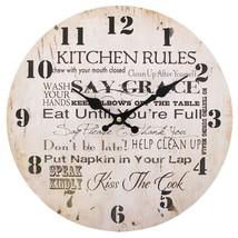MDF Kitchen Rules Wall Clock; 31523 - $18.20