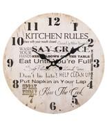 MDF Kitchen Rules Wall Clock; 31523 - $18.90
