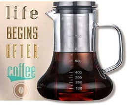 Beverg Cold-Brew 700Ml Iced-Coffee-Maker Glass-Carafe With Tea Infuser A... - $15.83