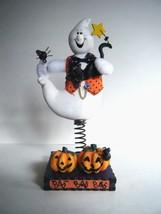 """Avon Halloween Bobble Ghost Black Cat Pumpkin Spider Figurine 9"""" New In Box - $12.82"""