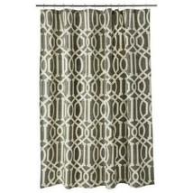 Threshold Fretwork River Birch Fabric Shower Curtain Brown Beige Geometr... - $26.97