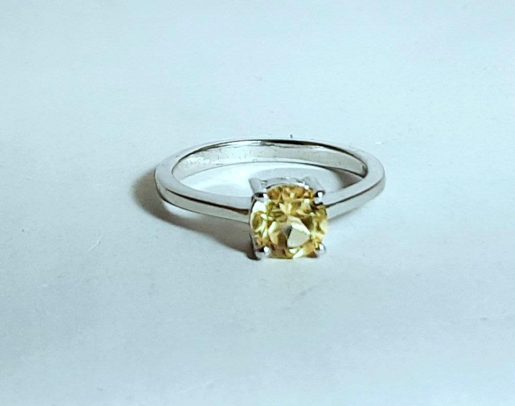 925 Sterling Silver Natural Citrine Gemstone Artistic Design Handmade Women's Ri