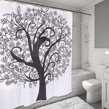 "Water Resistant Fabric Shower Curtain 70"" x 72"" The Tree of Life Design - $20.49"