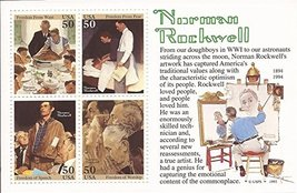 USPS 1994 Norman Rockwell - Souvenir Sheet of Four 50 Cent Stamps - Scot... - $5.19
