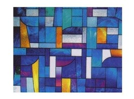 """Abstract Stained Glass Decorative Window Film 36"""" Wide x 25 Ft - $193.77"""