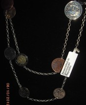"""32"""" Sterling Silver Coin Necklace JCM .925 - $49.99"""